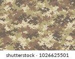 desert camouflage seamless... | Shutterstock .eps vector #1026625501