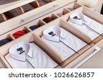 view of colorful men's neckties ... | Shutterstock . vector #1026626857