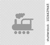 train vector icon eps 10.... | Shutterstock .eps vector #1026629665