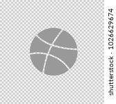 basket ball vector icon eps 10. ... | Shutterstock .eps vector #1026629674