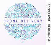 drone delivery concept in... | Shutterstock .eps vector #1026632779