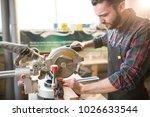 young handsome caucasian... | Shutterstock . vector #1026633544