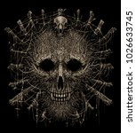 totem shaman attribute head... | Shutterstock . vector #1026633745