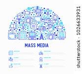mass media concept in half... | Shutterstock .eps vector #1026633931