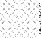 seamless ornamental vector... | Shutterstock .eps vector #1026643447