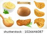 potato  mash and chips.... | Shutterstock .eps vector #1026646087