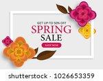 spring sale poster  banner ...   Shutterstock .eps vector #1026653359