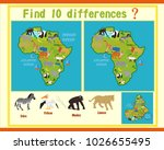 finding the differences on the... | Shutterstock .eps vector #1026655495