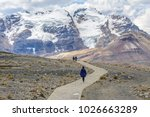Small photo of Hiker in Pastoruri glacier, Huascaran National Park, Peru