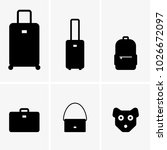 baggage  cabin luggage and... | Shutterstock .eps vector #1026672097
