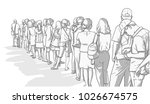 Illustration Of Crowd Of Peopl...