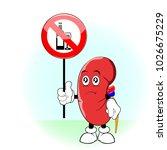 world kidney day  cartoon. stop ... | Shutterstock .eps vector #1026675229