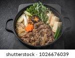 sukiyaki japan of beef pot... | Shutterstock . vector #1026676039