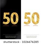50th anniversary card on black... | Shutterstock .eps vector #1026676285