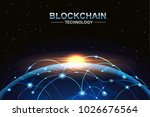 blockchain and bitcoin... | Shutterstock .eps vector #1026676564