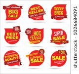 modern sale stickers and tags... | Shutterstock .eps vector #1026684091