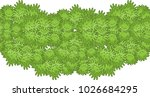 vector seamless border pattern  ... | Shutterstock .eps vector #1026684295