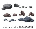 the stone is separated from the ... | Shutterstock .eps vector #1026686254