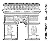 arc de triomphe vector... | Shutterstock .eps vector #1026686851