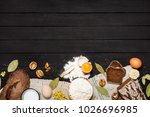 products on a background of... | Shutterstock . vector #1026696985