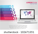 design template numbered... | Shutterstock .eps vector #102671351