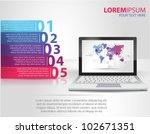 design template numbered... | Shutterstock .eps vector #102671351