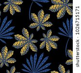 exotic seamless pattern with... | Shutterstock .eps vector #1026715171