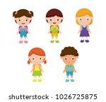 children go to school | Shutterstock .eps vector #1026725875