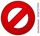 prohibition  restriction sign...   Shutterstock .eps vector #1026727495