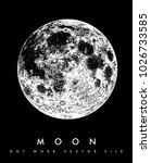 moon vector dotwork | Shutterstock .eps vector #1026733585