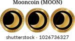set of physical golden coin... | Shutterstock .eps vector #1026736327