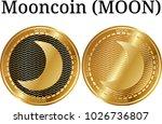 set of physical golden coin... | Shutterstock .eps vector #1026736807