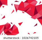 Abstract polygonal background | Shutterstock vector #1026742105