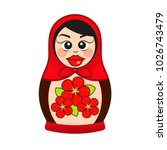 matryoshka doll dressed in a... | Shutterstock .eps vector #1026743479