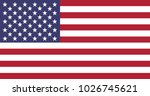 united states of america flag. | Shutterstock .eps vector #1026745621