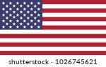 united states of america flag. | Shutterstock .eps vector #1026745621