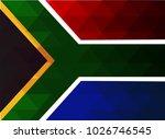 south africa flag vector... | Shutterstock .eps vector #1026746545