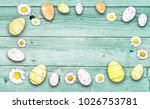 easter decoration on rustic... | Shutterstock . vector #1026753781