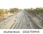 train track at station | Shutterstock . vector #1026754945