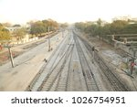 train track at station | Shutterstock . vector #1026754951