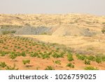 rural area fields india | Shutterstock . vector #1026759025