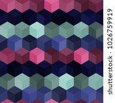 hexagon grid seamless vector... | Shutterstock .eps vector #1026759919