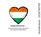 hungary national day with nice... | Shutterstock .eps vector #1026760765