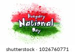 hungary national day with nice... | Shutterstock .eps vector #1026760771