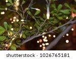 decorative lamps at night v.1 | Shutterstock . vector #1026765181