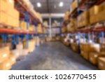 blur image of warehouse   Shutterstock . vector #1026770455