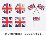 badges with united kingdom flag ... | Shutterstock .eps vector #102677591