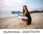 pretty handsome girl or woman... | Shutterstock . vector #1026776749