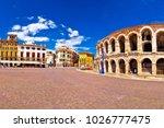 roman amphitheatre arena di... | Shutterstock . vector #1026777475