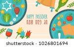 passover holiday banner design... | Shutterstock .eps vector #1026801694